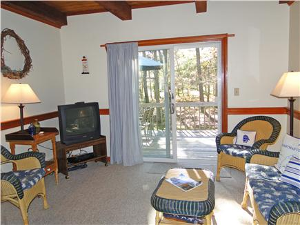 Brewster Cape Cod vacation rental - Bright sun porch with slider to deck