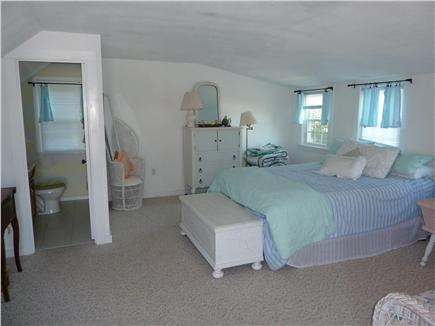 E. Dennis Cape Cod vacation rental - Suite above garage with 1/2 bath and ocean views and deck access