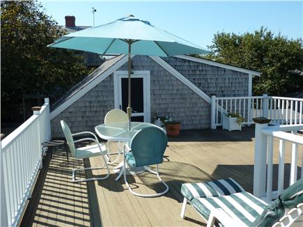 E. Dennis Cape Cod vacation rental - Roof deck with umbrella dining and ocean views