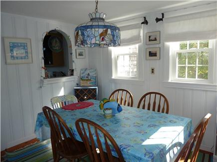 E. Dennis Cape Cod vacation rental - Dining room off kitchen seats six