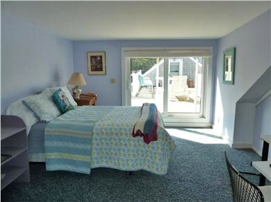 E. Dennis Cape Cod vacation rental - Second floor bedroom with slider to deck