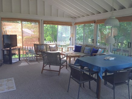 Orleans Cape Cod vacation rental - Awesome Porch with Dining, Living Area and TV