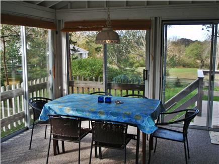 Orleans Cape Cod vacation rental - Great Porch with Dining, Living area & TV, Screened In