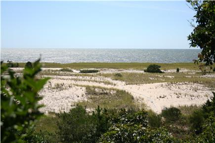 Harwich Port Cape Cod vacation rental - Spectacular view from living room of path to private beach