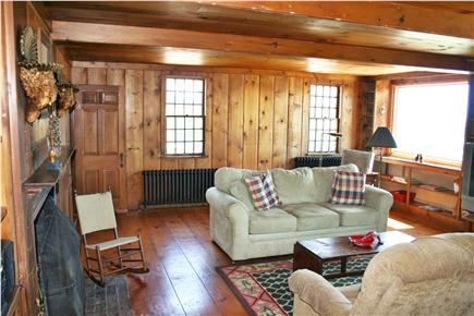 Harwich Port Cape Cod vacation rental - Living room #1 with TV and amazing views of ocean