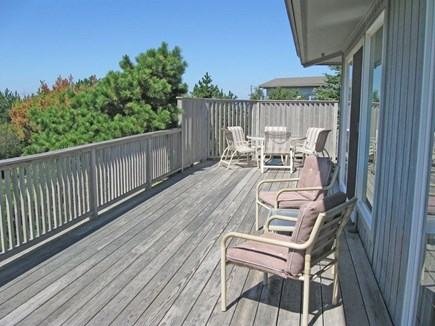 North Truro Cape Cod vacation rental - Wide wrap-around deck facing Cape Cod bay