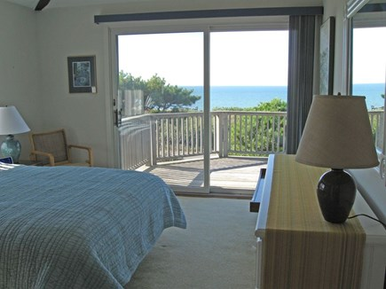 North Truro Cape Cod vacation rental - Master bedroom, second floor, with view of bay, QUEEN bed