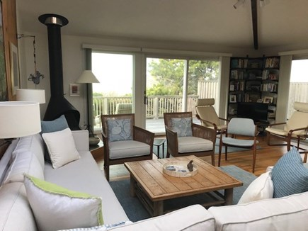 North Truro Cape Cod vacation rental - A variety of seating areas in living room