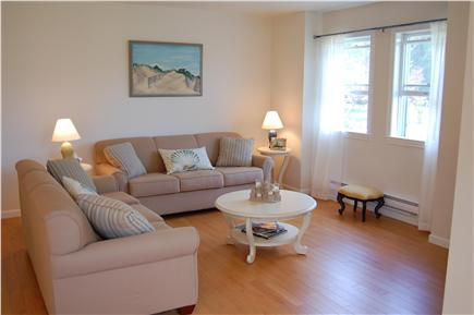 Chatham Cape Cod vacation rental - The open concept living room features a pullout sleeper couch