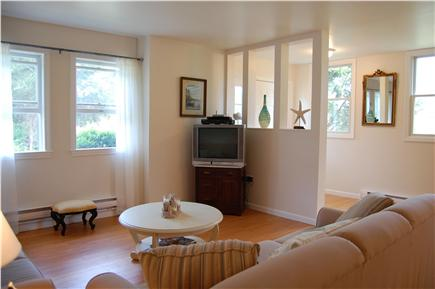Chatham Cape Cod vacation rental - The television with dvd/cable/high speed wireless internet