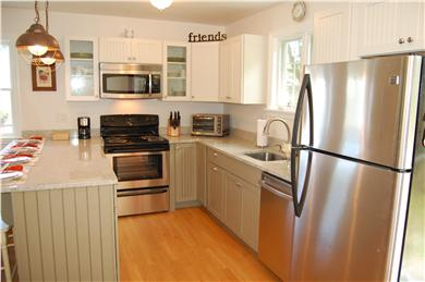 Chatham Cape Cod vacation rental - A view into the kitchen from the back door