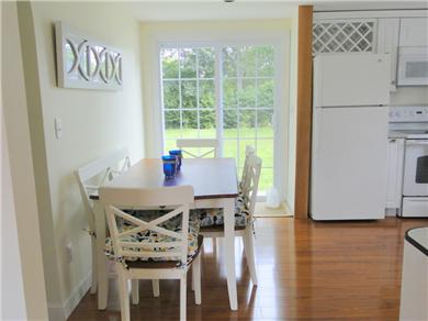 Hyannis Cape Cod vacation rental - Dining Area with sliders to patio and back yard