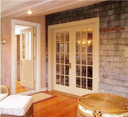 West Falmouth Cape Cod vacation rental - Enclosed back porch
