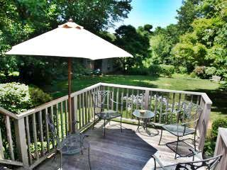West Falmouth Cape Cod vacation rental - Raised back deck with grill