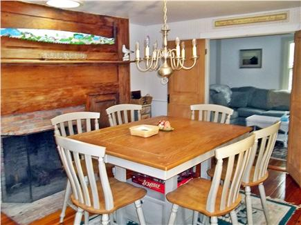 West Falmouth Cape Cod vacation rental - Old World eat-in dining room w/French doors to screened porch