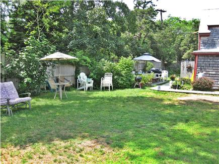 Eastham Cape Cod vacation rental - backyard,space for crocquet
