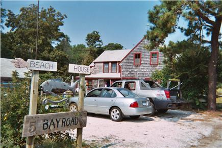 Eastham Cape Cod vacation rental - parking area,back of house