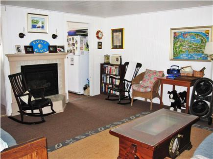 Eastham Cape Cod vacation rental - gas fireplaced livingroom