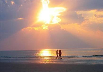 East Sandwich Beach Cape Cod vacation rental - Sunset on Cape Cod bay