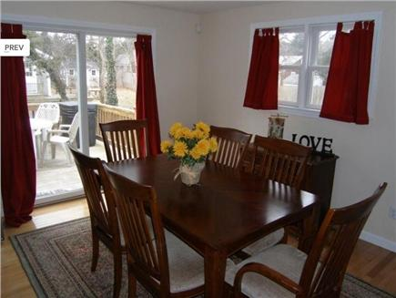 East Sandwich Beach Cape Cod vacation rental - Dining room with sliders to deck