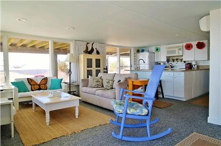 Chatham Cape Cod vacation rental - Living/Kitchen from the dining area
