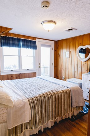 Popponesset Beach Cape Cod vacation rental - Queen bed with deck access and view of ocean