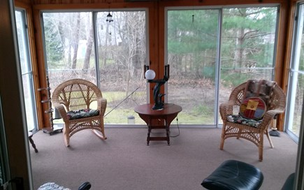 Cotuit Cotuit vacation rental - Spacious sunroom with skylights and six sliders