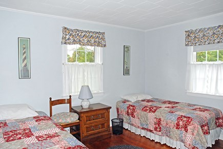 Dennisport Cape Cod vacation rental - Spacious Bedroom with twins and TV.  Have 2 child guards.