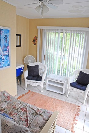 Dennisport... 3/4 mi to Sound  Cape Cod vacation rental - Cozy, airy porch/ quiet reading room or time out room, if needed.