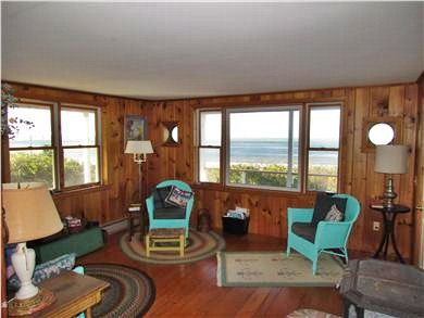 Brewster Cape Cod vacation rental - Living area with beautiful Bay views