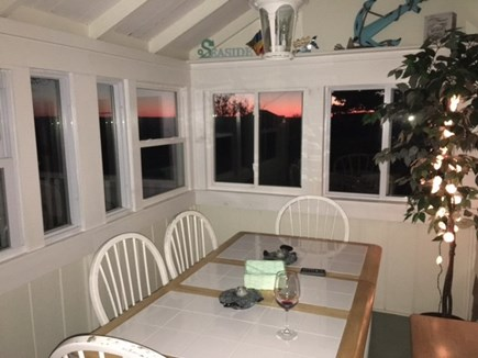 Eastham Cape Cod vacation rental - Sun room at sunset