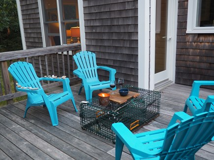 Eastham Cape Cod vacation rental - View of the deck