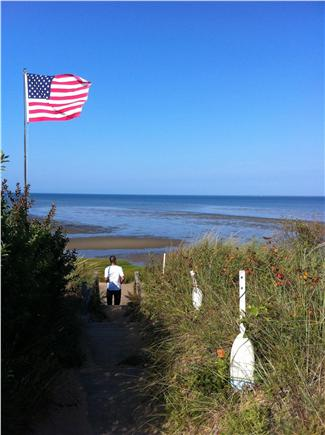 Eastham Cape Cod vacation rental - Arriving at the beach, two minutes away from the cottage.
