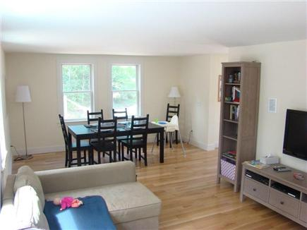 Eastham Cape Cod vacation rental - Living /dining room. With flat screen TV. Table sits 10