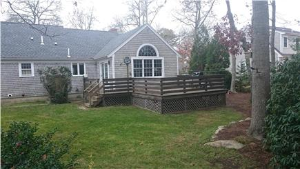 Brewster Cape Cod vacation rental - Rear Deck
