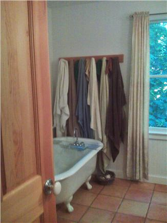 West Falmouth Cape Cod vacation rental - Upstairs bath: clawfoot tub, separate shower stall, double sinks