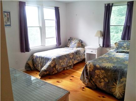West Falmouth Cape Cod vacation rental - Bedroom #2, Two single beds, peek at water
