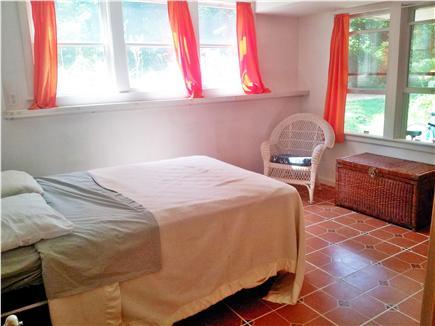 West Falmouth Cape Cod vacation rental - Bedroom #4, double bed, basement (5 windows, closet, 1/2 bath)