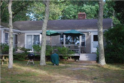Cataumet, Bourne Cataumet vacation rental - Enjoy outdoor dining or relaxing on deck overlooking private yard