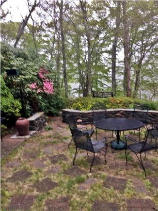 West Falmouth Cape Cod vacation rental - Outdoor dining with barbeque and water views