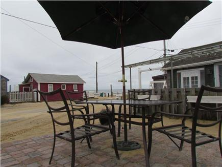 Dennisport Cape Cod vacation rental - Patio with beach view