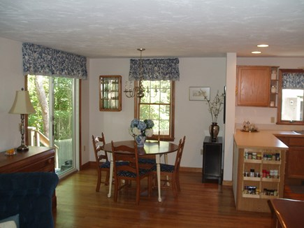 Harwich Cape Cod vacation rental - Dining Area - deck is on the left, kitchen on the rights