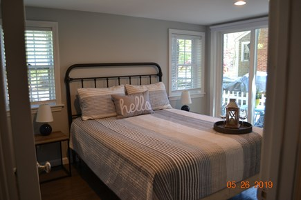 West Dennis Cape Cod vacation rental - New Master bedroom with private patio.