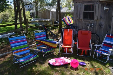 West Dennis Cape Cod vacation rental - Generous use of beach chairs, umbrellas, kid's toys and bike!