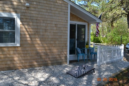 West Dennis Cape Cod vacation rental - Small private patio off of Master Bedroom.