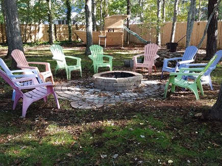 South Yarmouth Cape Cod vacation rental - Backyard Firepit