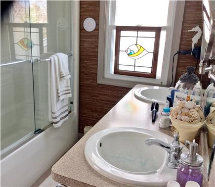 Sandwich Cape Cod vacation rental - Double sinks,hairdryer,magnifying pullout mirror,just redecorated