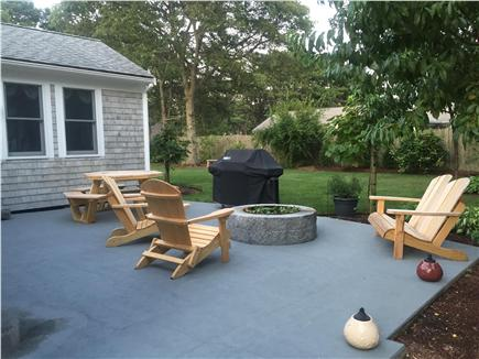 West Yarmouth Cape Cod vacation rental - Fire pit and patio