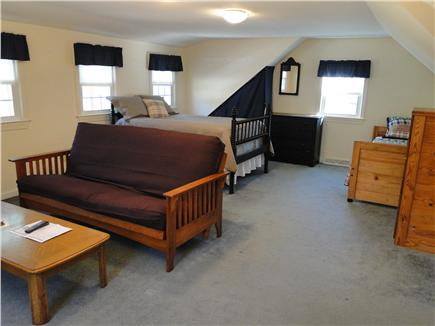 Orleans Cape Cod vacation rental - Large fourth bedroom upstairs with seating area and TV