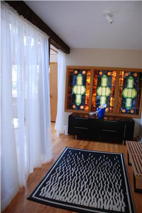 Wellfleet, Trotting Park - Near Town Cent Cape Cod vacation rental - Entry with Beautiful Stained Glass